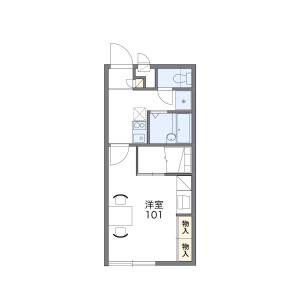 1K Apartment in Rokuromi - Yokkaichi-shi Floorplan