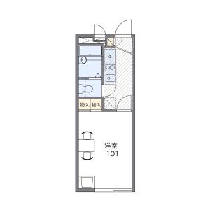 1K Apartment in Chuo - Warabi-shi Floorplan