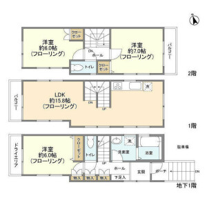 3LDK House in Kamiosaki - Shinagawa-ku Floorplan