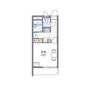 1K Mansion in Chatan - Nakagami-gun Chatan-cho Floorplan