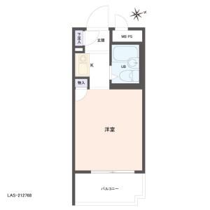 1R {building type} in Nishiarai - Adachi-ku Floorplan