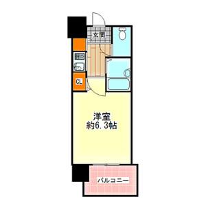 1K {building type} in Uemachi - Osaka-shi Chuo-ku Floorplan