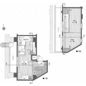 中野區江古田-2DK公寓大廈 房間格局