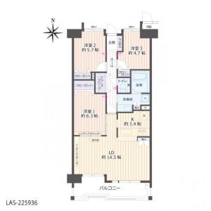 3LDK {building type} in Kitagatacho kitagata - Ichinomiya-shi Floorplan