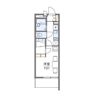 1K Mansion in Niizo - Toda-shi Floorplan