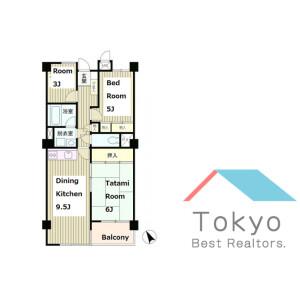 2SLDK Mansion in Arai - Nakano-ku Floorplan