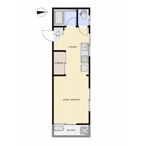 1K Mansion in Shirokane - Minato-ku Floorplan