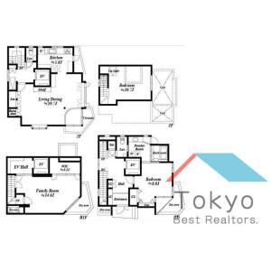 3LDK House in Honcho - Nakano-ku Floorplan