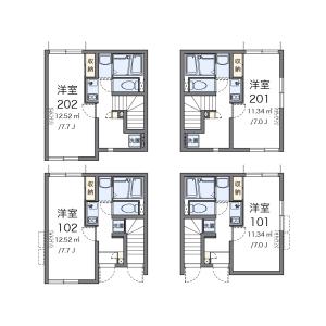 1K Apartment in Higashioi - Shinagawa-ku Floorplan
