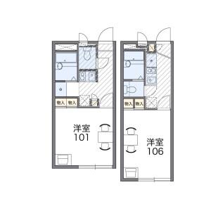 1K Apartment in Kamisakabe - Amagasaki-shi Floorplan