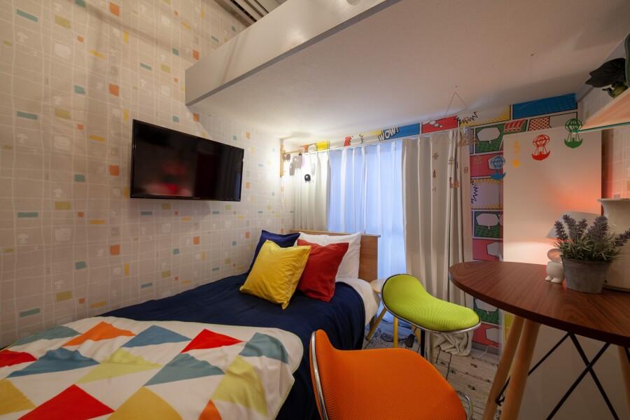 1R アパート 豊島区 ベッドルーム