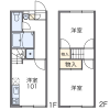 2DK Apartment to Rent in Fukuoka-shi Higashi-ku Floorplan