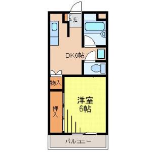 1DK 맨션 in Ikegami - Ota-ku Floorplan
