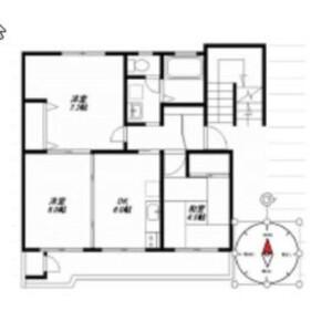 2LDK Mansion in Miyazaki - Kawasaki-shi Miyamae-ku Floorplan