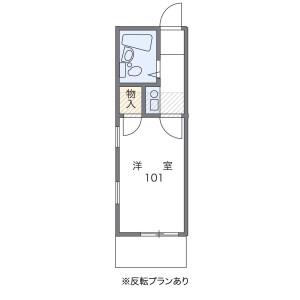 1K Apartment in Kamitakada - Nakano-ku Floorplan