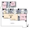 在港区购买3SLDK 公寓大厦的 楼层布局