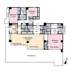 3SLDK {building type} in Minamiaoyama - Minato-ku Floorplan