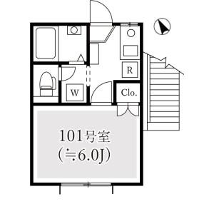 1K Apartment in Higashiyama - Meguro-ku Floorplan
