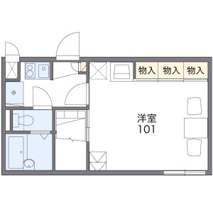 1K Apartment in Yoshioka - Kasama-shi Floorplan