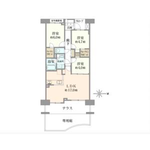 3LDK {building type} in Sekimachikita - Nerima-ku Floorplan