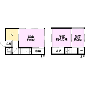3K {building type} in Kurihara - Adachi-ku Floorplan