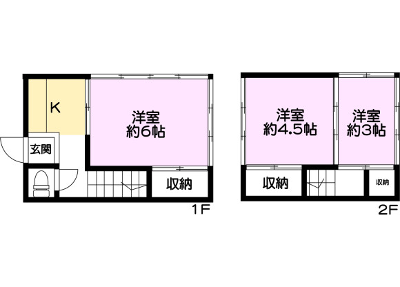 3K House to Buy in Adachi-ku Floorplan
