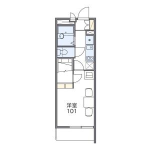 1K Mansion in Horinochicho - Saitama-shi Omiya-ku Floorplan