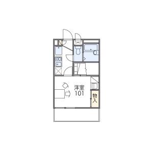 1K Mansion in Kitatanabe - Osaka-shi Higashisumiyoshi-ku Floorplan