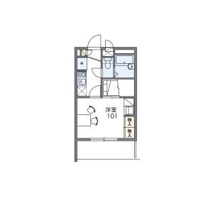1K Mansion in Shimizugaoka - Fuchu-shi Floorplan