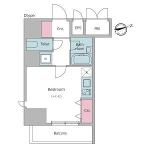 1R Mansion in Higashishinagawa - Shinagawa-ku Floorplan
