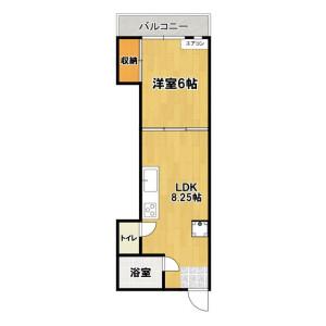 1LDK Mansion in Higashitateishi - Katsushika-ku Floorplan