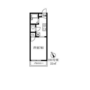 1K Apartment in Ebisuminami - Shibuya-ku Floorplan