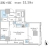 2LDK 맨션 to Rent in Minato-ku Floorplan