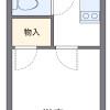 1K Apartment to Rent in Chiba-shi Inage-ku Floorplan