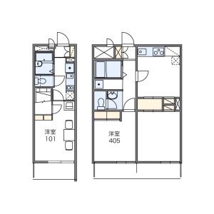 1K Mansion in Koyanagicho - Fuchu-shi Floorplan