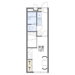 1K Apartment in Shimokawaraya - Izumisano-shi Floorplan