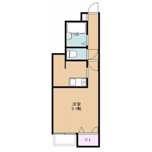富士見市ふじみ野東-1K公寓 房間格局