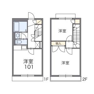 2DK Apartment in Bubaicho - Fuchu-shi Floorplan