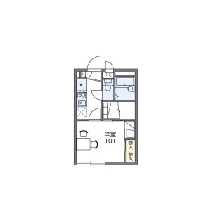1K Mansion in Kemigawacho - Chiba-shi Hanamigawa-ku Floorplan