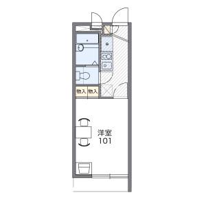1K Mansion in Yasakaminamicho - Shizuoka-shi Shimizu-ku Floorplan