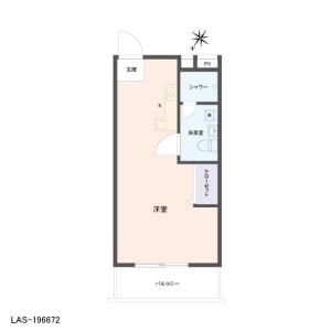 1R {building type} in Kurosunadai - Chiba-shi Inage-ku Floorplan