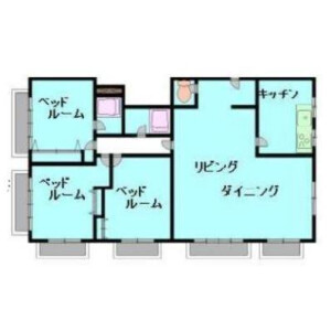 3LDK Mansion in Kitanocho - Kobe-shi Chuo-ku Floorplan