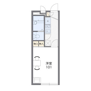1K Apartment in Shikoda - Kashiwa-shi Floorplan