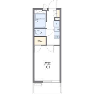 1K 아파트 in Noborito - Kawasaki-shi Tama-ku Floorplan