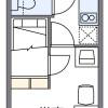 在大阪市西成區內租賃1K 公寓大廈 的房產 房間格局