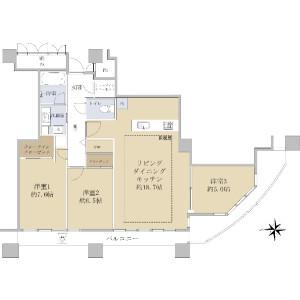 3LDK {building type} in Hyakunincho - Shinjuku-ku Floorplan