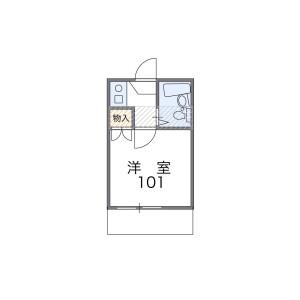 1R Apartment in Yoyogi - Shibuya-ku Floorplan