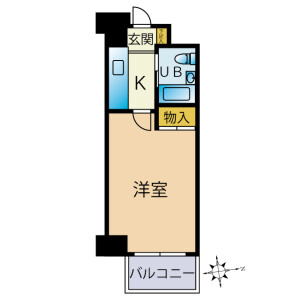 1K {building type} in Owadamachi - Hachioji-shi Floorplan