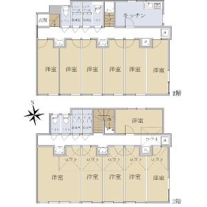 Whole Building {building type} in Wakamiya - Nakano-ku Floorplan