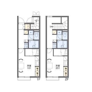 1K Apartment in Wakamatsu higashi - Suzuka-shi Floorplan